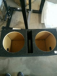 black and brown subwoofer enclosure Springfield