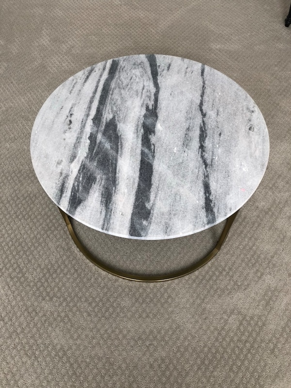 Used Round White Marble Coffee Table For Sale In Acworth Letgo