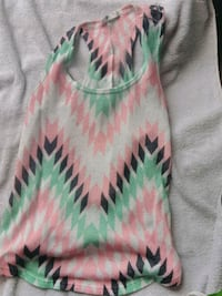 pink and green floral tank top Pendleton, 40055