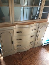 wood and glass China cabinet with 3 draws and 2 side cabinets  Cream Ridge, 08514