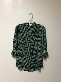 Women's PLEIONE (Anthropologie) button up sleeves cross front blouse… Size-small Manasquan, 08736