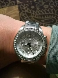 round silver fossil watch  Chattanooga
