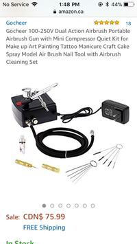 Airbrush set Winnipeg, R2L 0A6