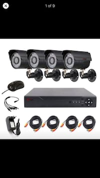 4 channel 1080p home security cameras  Worcester, 01604
