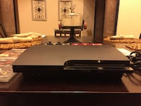 black Sony PS3 slim console