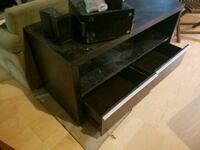 Black TV Console with Slide out drawer storage