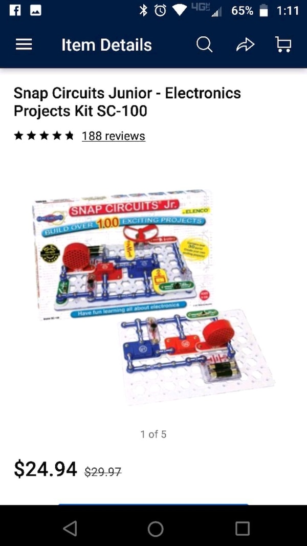 Kids electrical circuit builder