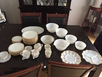 Fire King / Anchor Hocking dinner set of 8 plus  Pointe-Claire, H9R 3S5