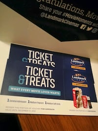 2 Movie Passes Includes Popcorn&Drink