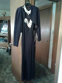 Black and sequin evening gown with jacket