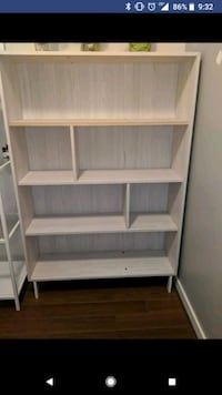 brown wooden 3-layer shelf Vancouver