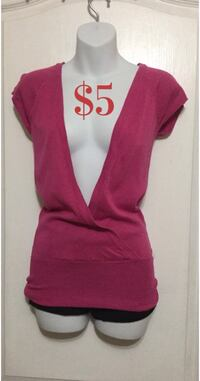 Pink Plunging Top: Size Small Toronto, M6G