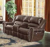 brown leather 3-seat sofa Houston, 77075