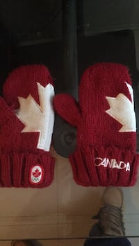 Red and white Canada's mitts  Winnipeg, R2M 5B1