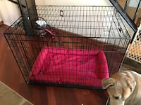 black metal folding dog crate Sterling, 20165