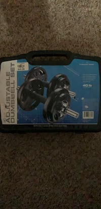 Adjustable Dumbbell set, all pieces present, good condition Bethlehem, 18018