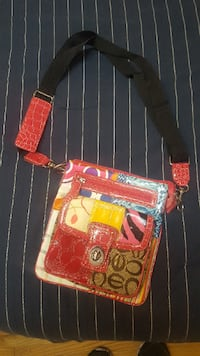 Coach Multicolored Patchwork Swing Pack Crossbody with Turnlock Calgary