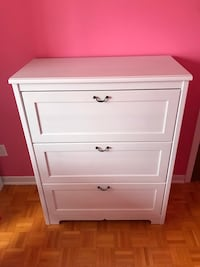 White Wardrobe 3 drawers for sale Montreal, H1E 5Z9