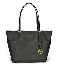 black Michael Kors leather tote bag 41 mi
