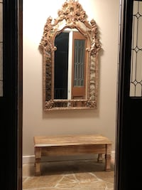 Gold wooden framed wall mirror Seattle, 98119