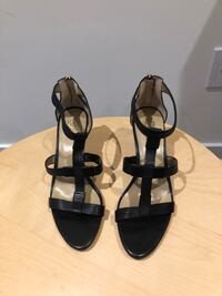 Strappy Black Ann Taylor Heels New in box, never worn Size 9