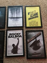 Various framed small movie posters Mentor, 44060