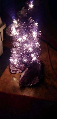 3FT PURPLE/BALLS NCLEAR LIGHTS ONSTAND CHRISTMAS T