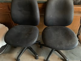 Office chairs. 25..00 a piece or both for 40.00