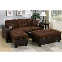 brown suede sectional sofa screenshot Austin