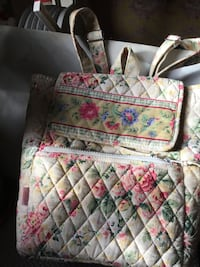 Pink, green, white, blue, and yellow floral Backpack Farmingdale, 11735