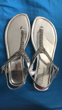 pair of silver-colored open-toe sandals Phoenixville, 19460