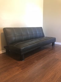 Black Genuine Leather Futon  Norfolk, 23503