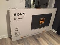 "70"" sony 4k hdr smart tv, new in box"
