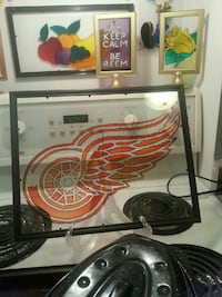 Red wings stained glass art