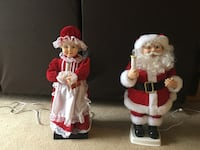 Animated Santa and Mrs CLAUS Brant, N3T 5L4