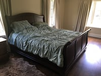 King size bed with wood framing Toronto, M5M