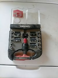 black, gray, and red Husky metal cordless power tool Victorville, 92392