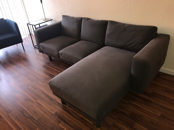 Norsborg Ikea 3 Seat Sectional Couch Sofa With Chaise Dark Gray