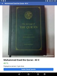 Muhammed Esed the message of the Quran-ing 40 tl  Etimesgut