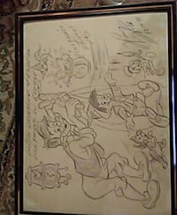 Pinocchio signed and framed-Disney  Tavares, 32778