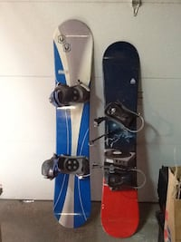 Snowboards with bindings. Markham, L3T 3L8