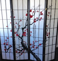 "New ""Cherry Tree"" Privacy/Room Divider Silver Spring"