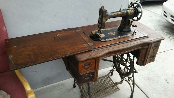 Used Antique White Rotary Sewing Machine For Sale In San Jose Letgo Amazing White Rotary Sewing Machine Table