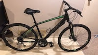 black and green hardtail mountain bike null
