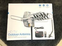 Brand new!!!  TV Antenna -Outdoor Amplified HDTV Antenna 150 Mile Motorized with Adjustable Antenna Mount Pole for 2 TVs Support - UHF/VHF 4K 1080P Channels Wireless Remote Control - 33FT Coax Cable Hialeah, 33015