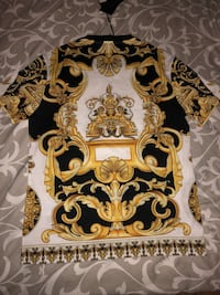 White, black, and gold Versace shirt Ontario, M9V 4V7