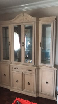 brown wooden framed glass display cabinet Vaughan, L6A 2M5
