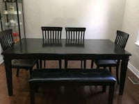 Dining table and chairs set Toronto, M2N 2Y5