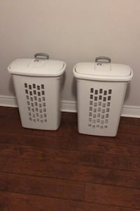 Pair of laundry baskets on wheels  Toronto, M3H 4K4
