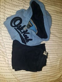 Oshkosh Zipup Sweater with Hoodie and Pants Outfit